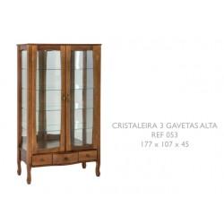 Cristaleira 3 Gavetas Alta Ref. 053