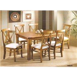 Mesa de Jantar Uriel X com 06 Cadeiras